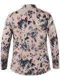 Powder Pink Rose Print Jersey Shrug