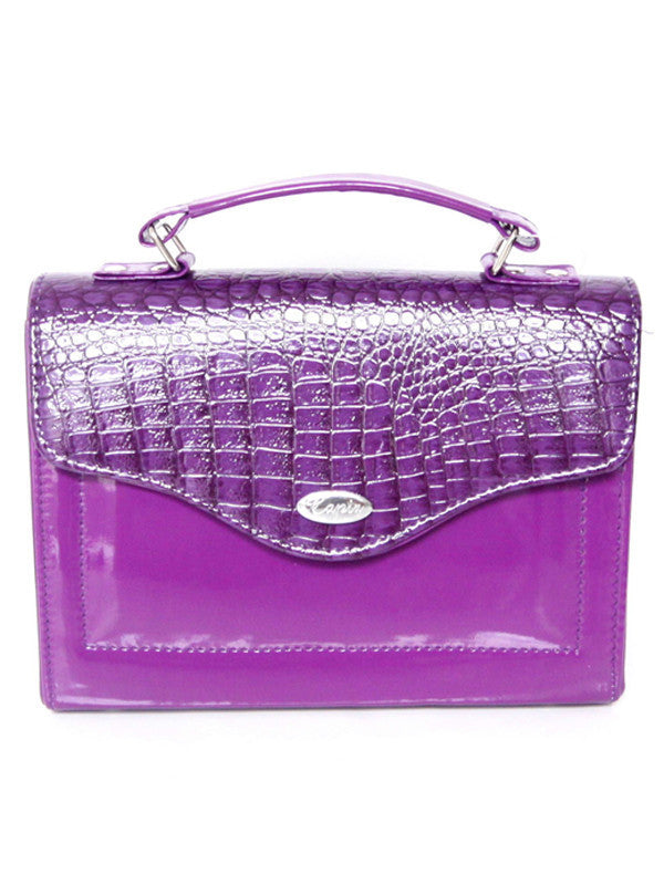 Purple Croc Medium Bag