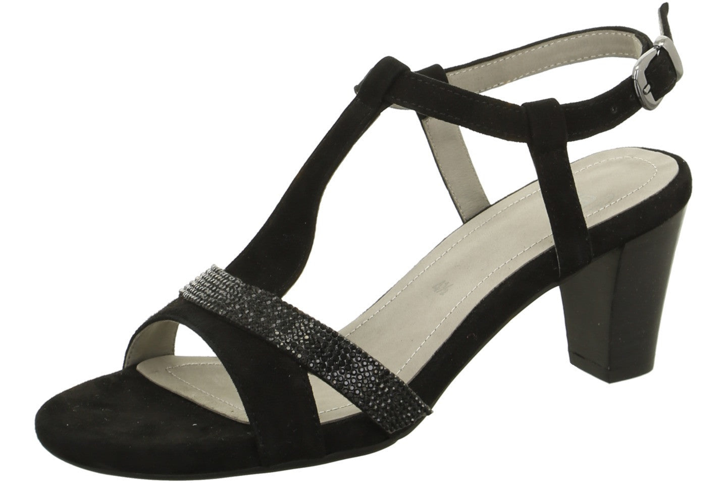Black Suede and Jet Bead G Fit Sandal