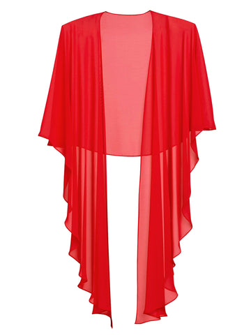 Gina Bacconi Hot Red Chiffon Shawl