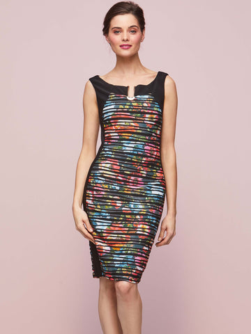 Gina Bacconi Multi Fearne Abstract Floral Dress