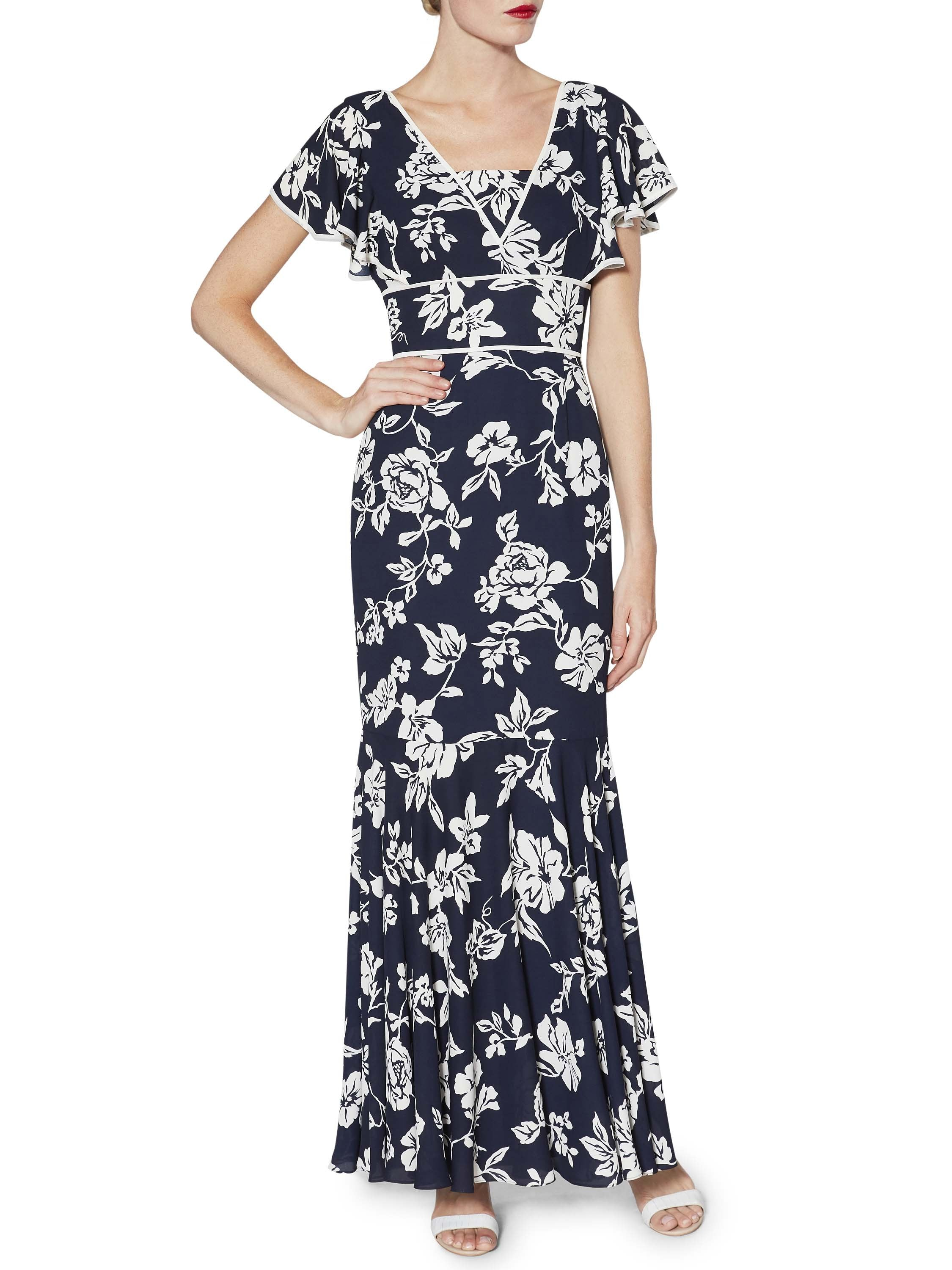 e6f4775f7bb Jacques Vert Spotted Chiffon Occasion Dress - Gomes Weine AG