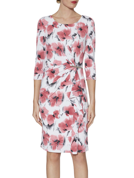 Gina Bacconi Poppy Demi Floral Print Jersey Dress