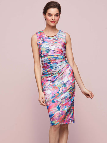 Gina Bacconi Multi Asha Print Dress