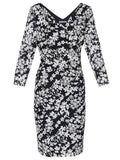 Gina Bacconi Floral Printed Lace Dress