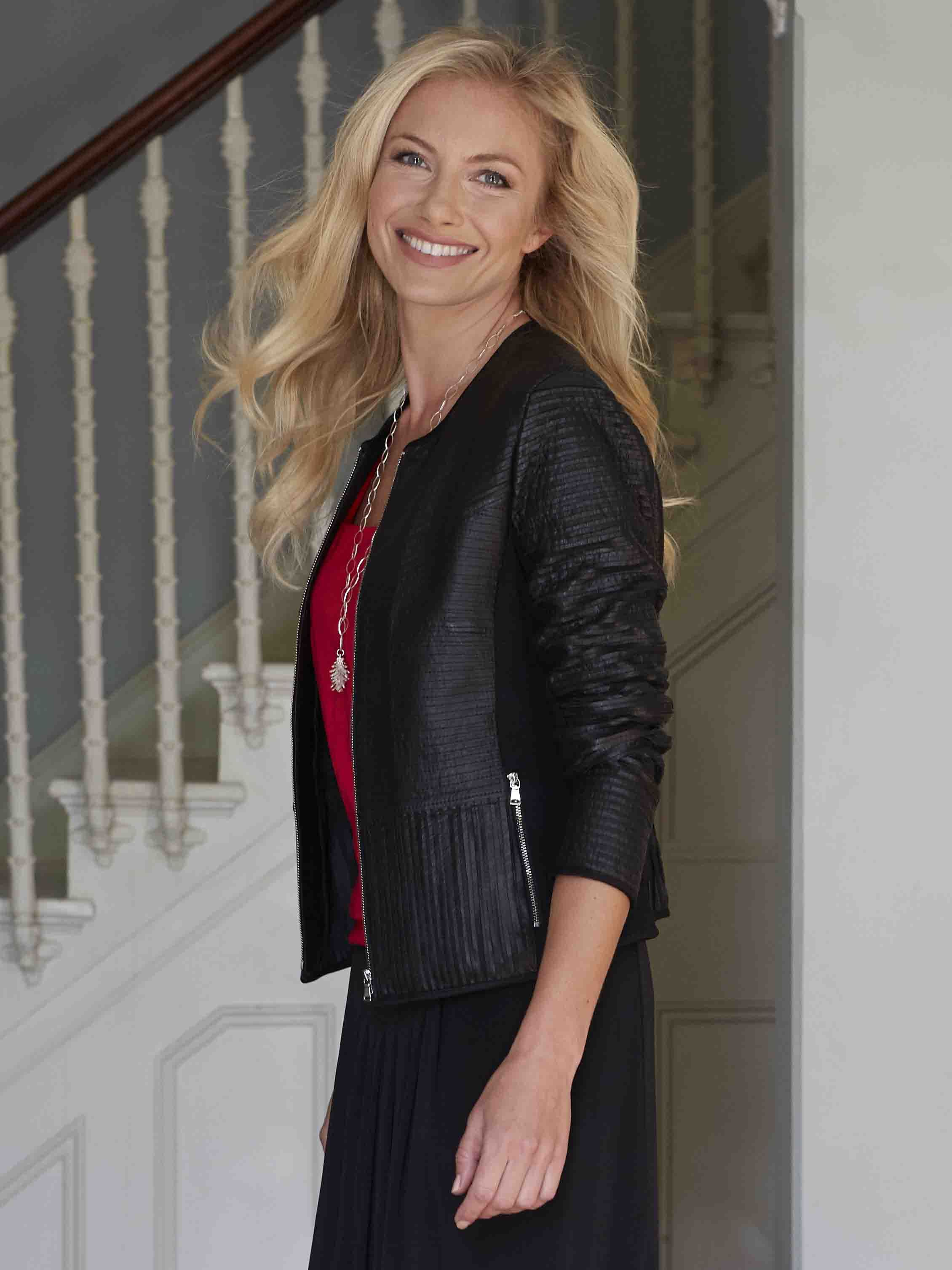 GERRY WEBER Black Leather Jacket