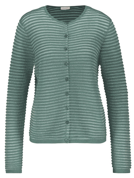 GERRY WEBER Aqua Ribbed Lurex Cardigan