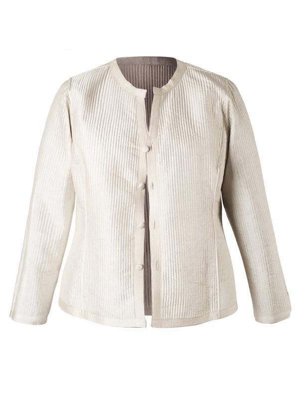 Chesca Direct Vanilla & Mocha Topstitched Reversible Jacket