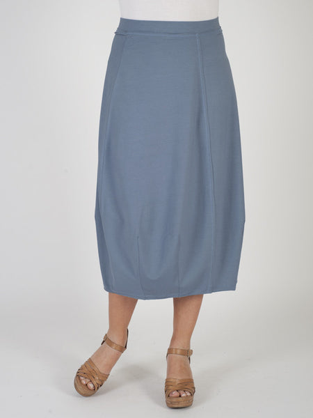 Blue Jersey Pull On Skirt