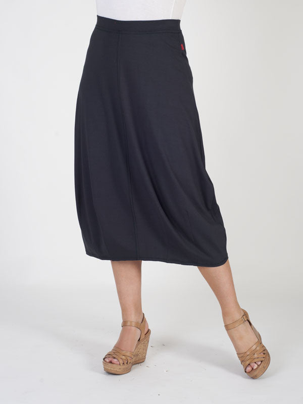 Vetono Charcoal Jersey Pull On Skirt