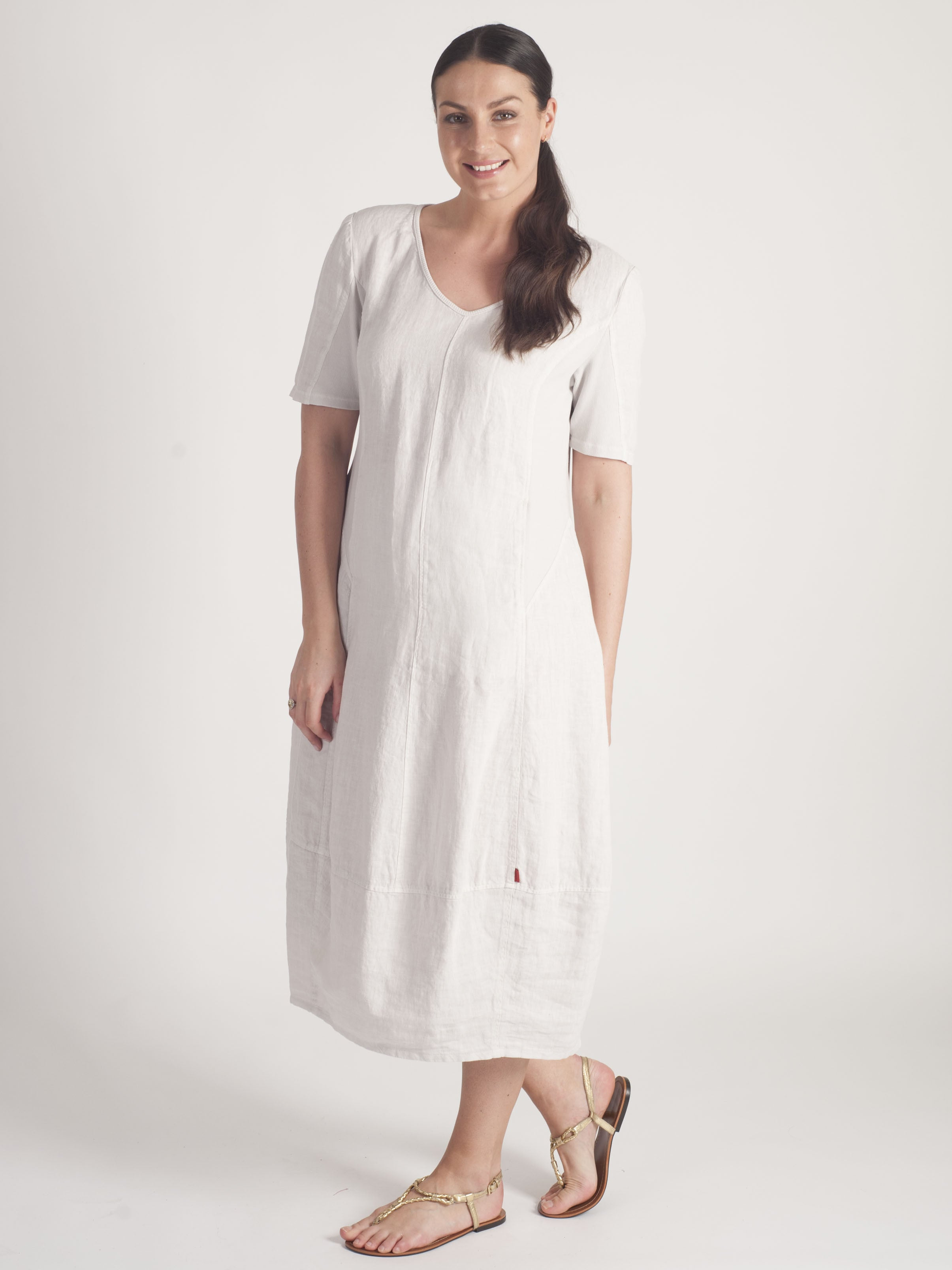 Vetono Stone Linen Dress