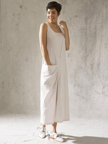 Vetono Stone Mid-Calf Dress