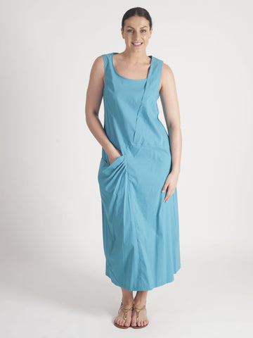 Vetono Turq Cotton mid-calf length  Dress