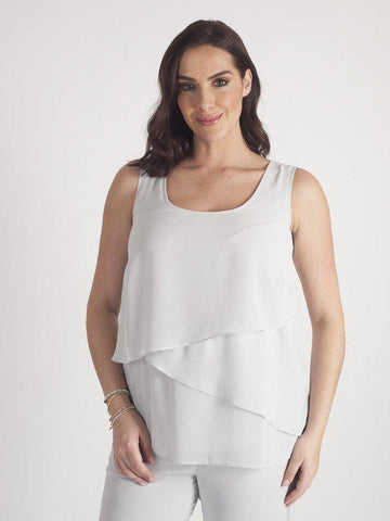 Silver Grey Triple Layer Chiffon Cami
