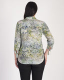 Lebek Green Water Print L/S Shirt