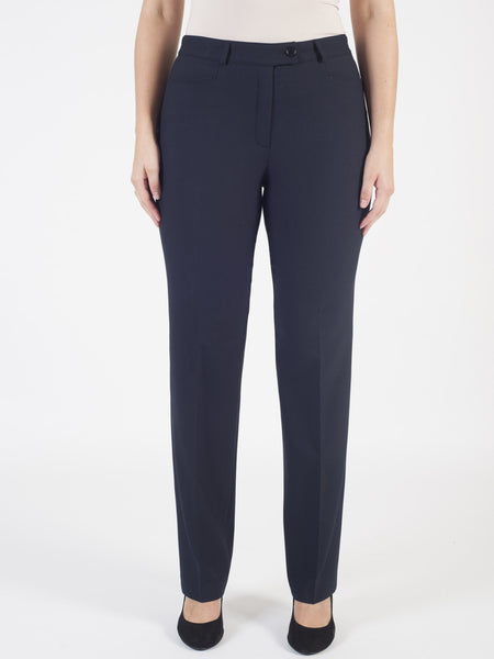 Basler Navy 'Diana' Smart Trouser