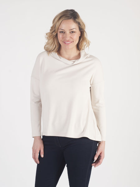 Betty Barclay - Beige Jersey Cowl Neck Top