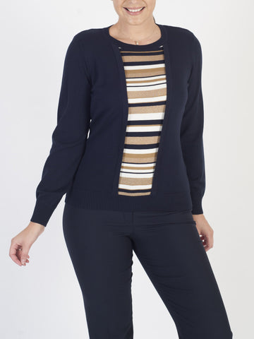 EUGEN KLEIN Navy 2-in-1 Jumper