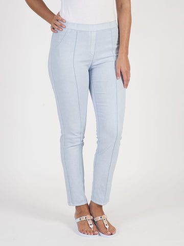 Frank Walder Easy Pull On Denim Trousers