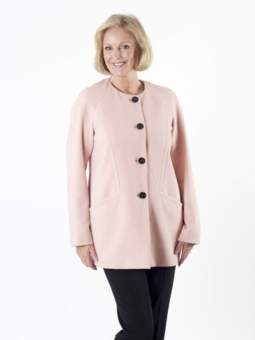 Taifun Blush Collarless Coat