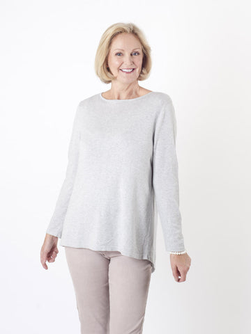 Gerry Weber Silver Grey Fine-knit Jumper