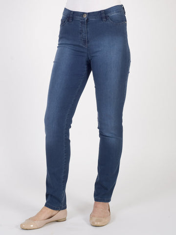 Michele Magic Blue Black Denim Jeans – Regular