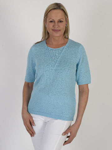 Rabe Beaded Tape-knit Jumper