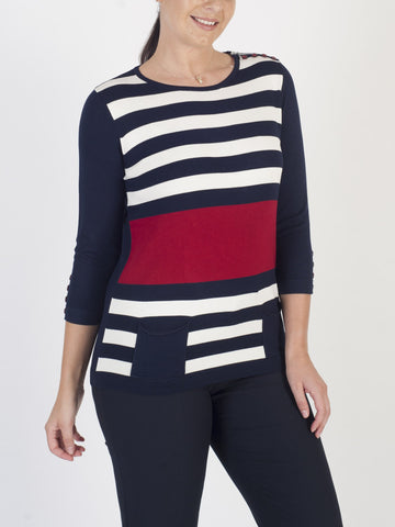 RABE Stripe-knit Jumper