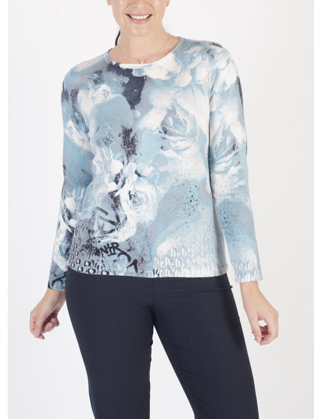 RABE Rose-print Jumper