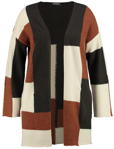 SAMOON Colour-block Longline Cardigan