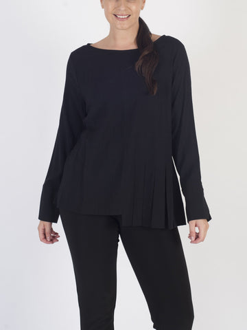 VETONO Black Plain Top