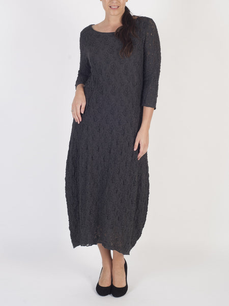 VETONO Grey Lace Dress