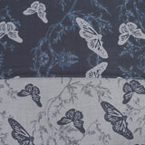 Navy Butterfly Printed Scarf