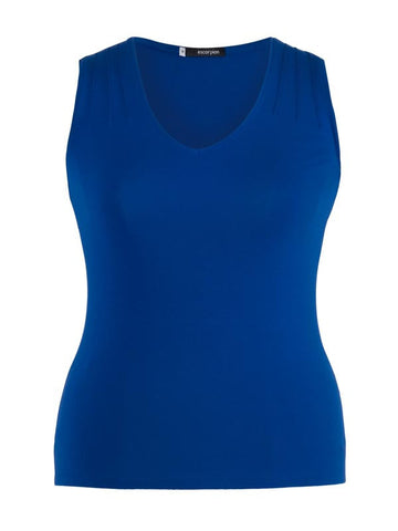 Navy V-Neck Jersey Vest Top front