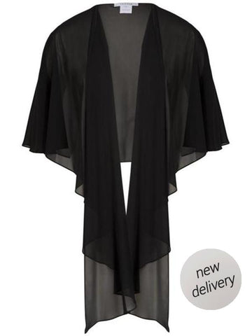 Black Chiffon Shawl - NEW DELIVERY