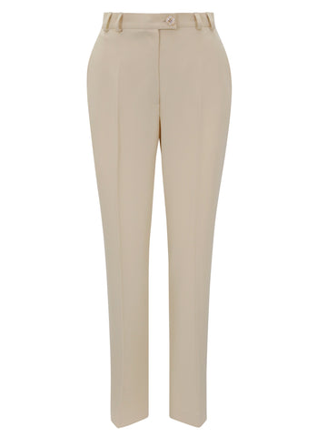 EUGEN KLEIN Beige Straight Smart Leg Trouser