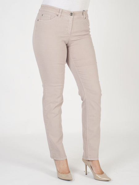 Gerry Weber Dusky Rose Perfect Fit 'Roxy' Stretch Jeans (front view)