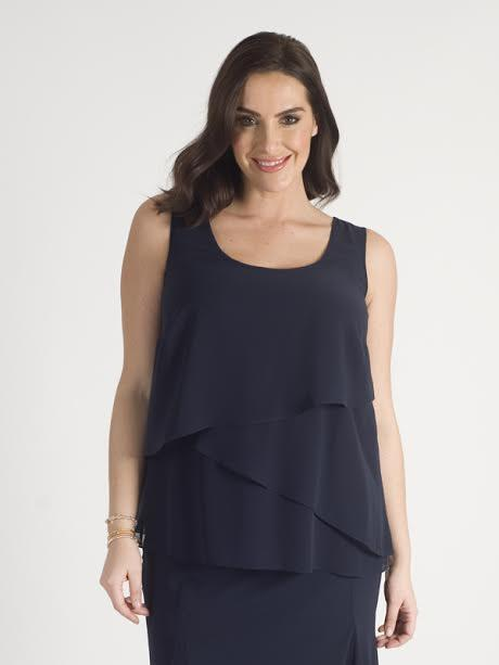 Dark Navy Chiffon Camisole - NEW DELIVERY DUE ON MAY 30TH