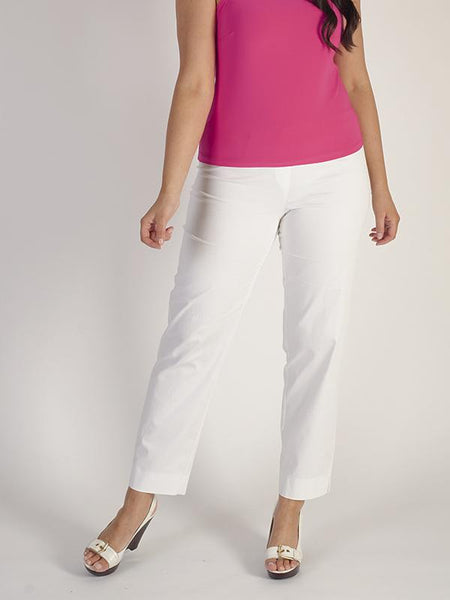 Ivory Stretch Cotton Trouser