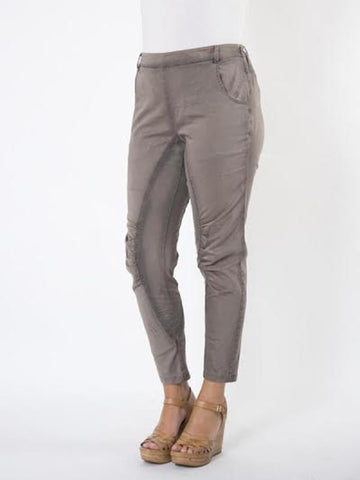 Taupe Ruched Knee Trouser