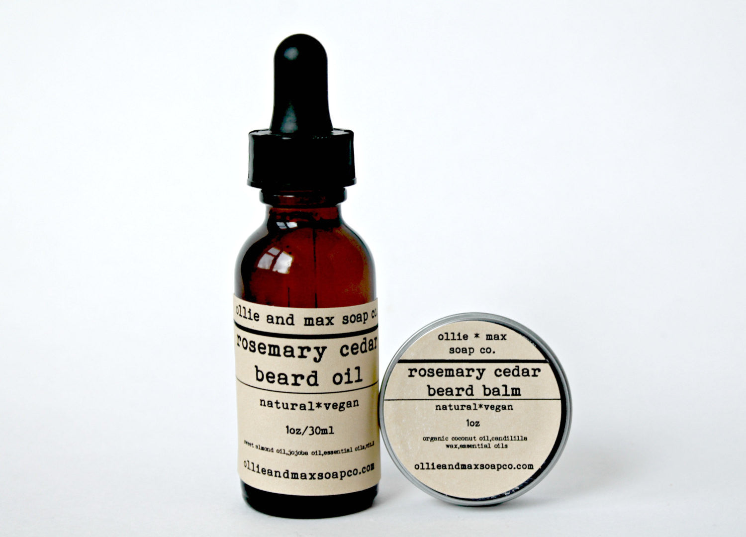 Rosemary Cedar Beard Grooming Kit