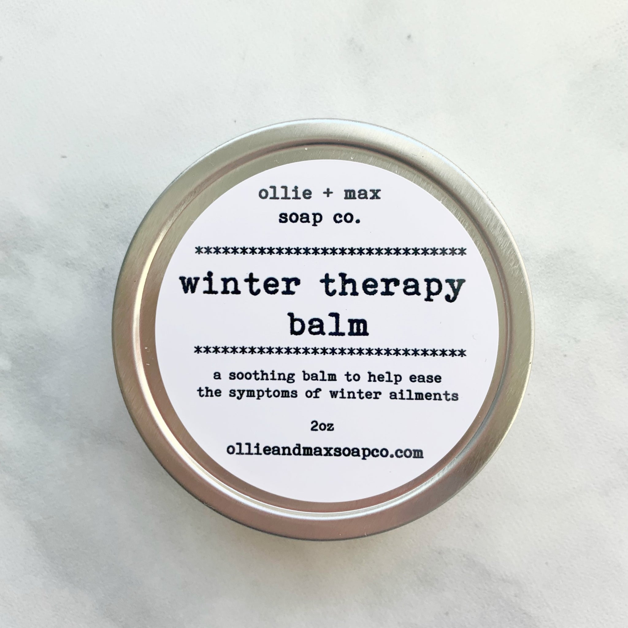 winter vapor rub in a 2oz tin. essential oils and coconut oil. natural and vegan.