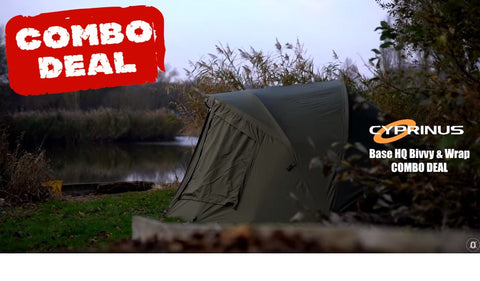 "Cyprinus™ Base ""Head Quarters"" Head Quarters Bivvy 1 Man & Overwrap"