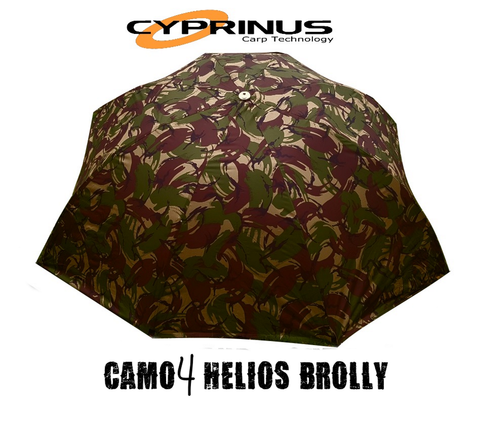 "Cyprinus™ 55"" CAMO4 Helios Carp Fishing Brolly with Wrap Combo Deal"