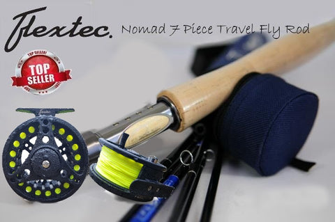 Flextec™ Nomad Carbon 7 Piece Travel Fly Fishing Rod & Carry Case 8' #4/5