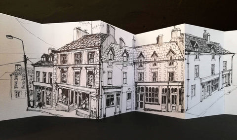 concertina sketchbook ballydehob