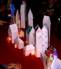Paper Models made by children at one of my modelmaking workshops