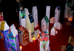 Paper models made by children at one of my workshops