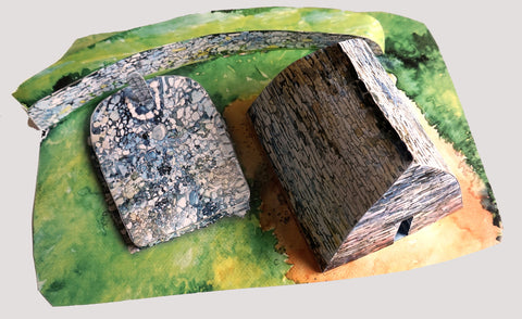 A diorama of Gallarus Oratory