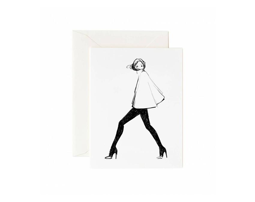 Graphic Cape Greeting Card by Garance Dore with white envelope at onceuponaflutter.com